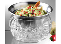 Iced Stainless Steel Serving Bowl