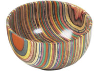 Colored Wood Serving Bowl