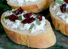 Cranberry and Goat Cheese Canapés