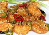 Crispy Sweet and Spicy Shrimp
