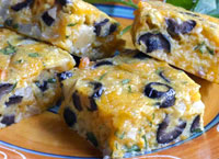 Chile Cheese and Olive Squares