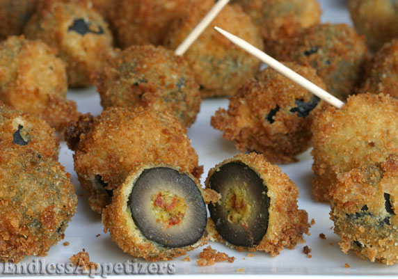 fried green olives stuffed happy snack fried stuffed need a new ...