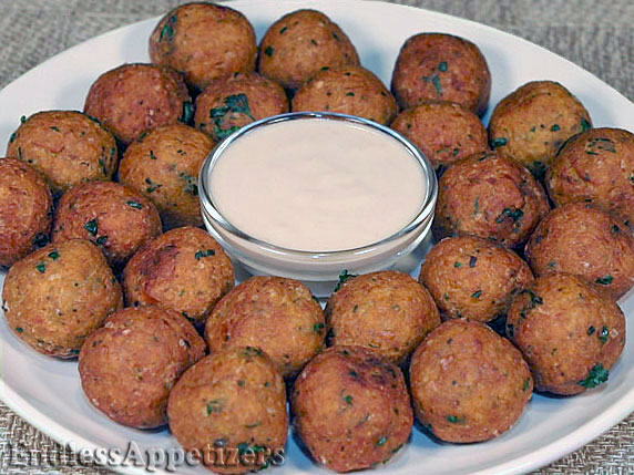 Garbanzo Balls with Tahini Sauce