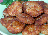 Ham and Cheese Potato Cakes