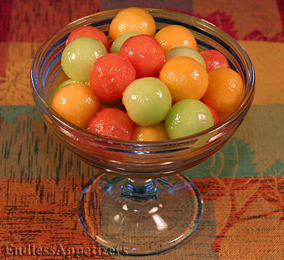 Honey Lime Melon Balls Recipe with Picture - EndlessAppetizers.com