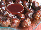 Meatballs with Grape Jelly and Chili Sauce