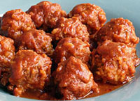 Porcupine Meatballs in Chili Sauce