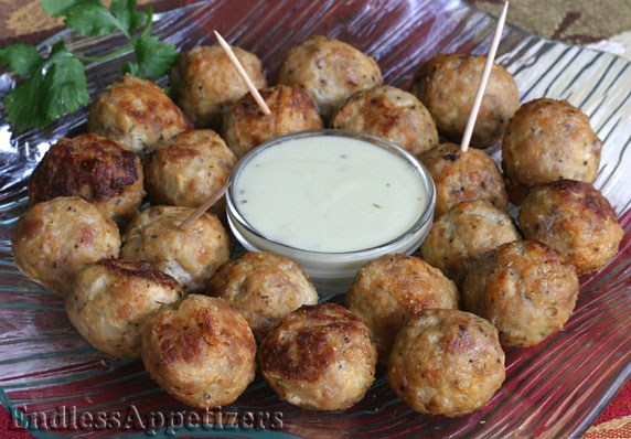 Sausage Meatballs with Mustard Dill Sauce