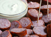 Sausages with Mustard Cream