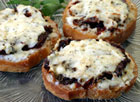 Three Cheese Crostini with Sun-Dried Tomatoes
